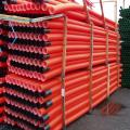 110mm x 6m Orange Twinwall Duct c/w coupler.Marked street lighting.